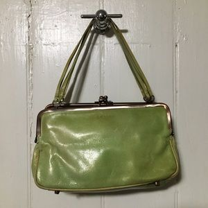 DKNY 🌱 spring leather green purse unique